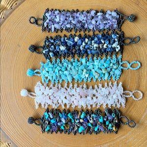 Lot of 5 Beaded Bracelets NWOT
